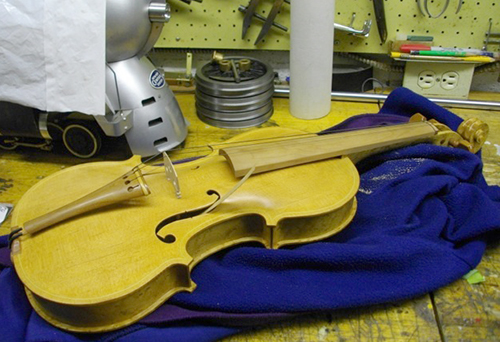 A violin Dr. Joe Foster made