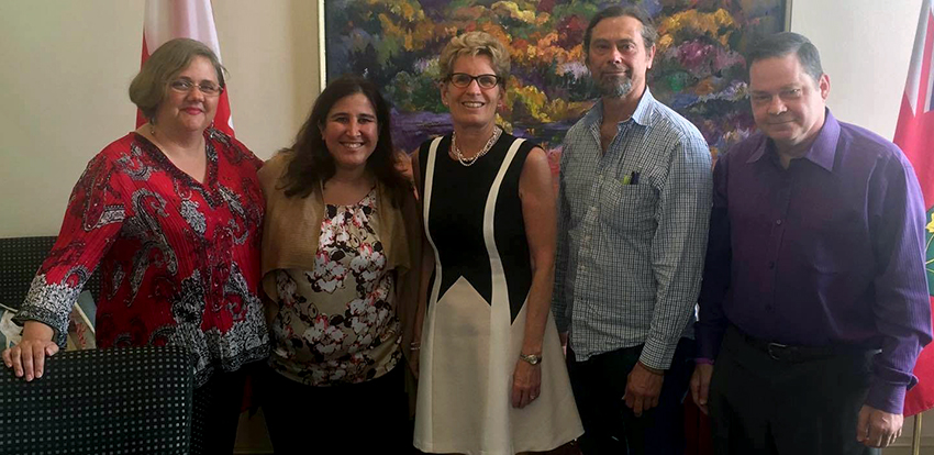 Sharon Gabison, Premier Kathleen Wynne, and members of OAC